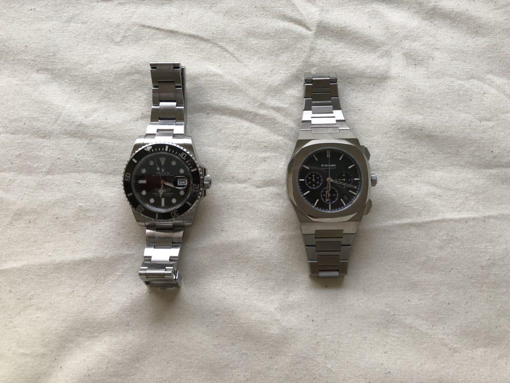 時計が2つ