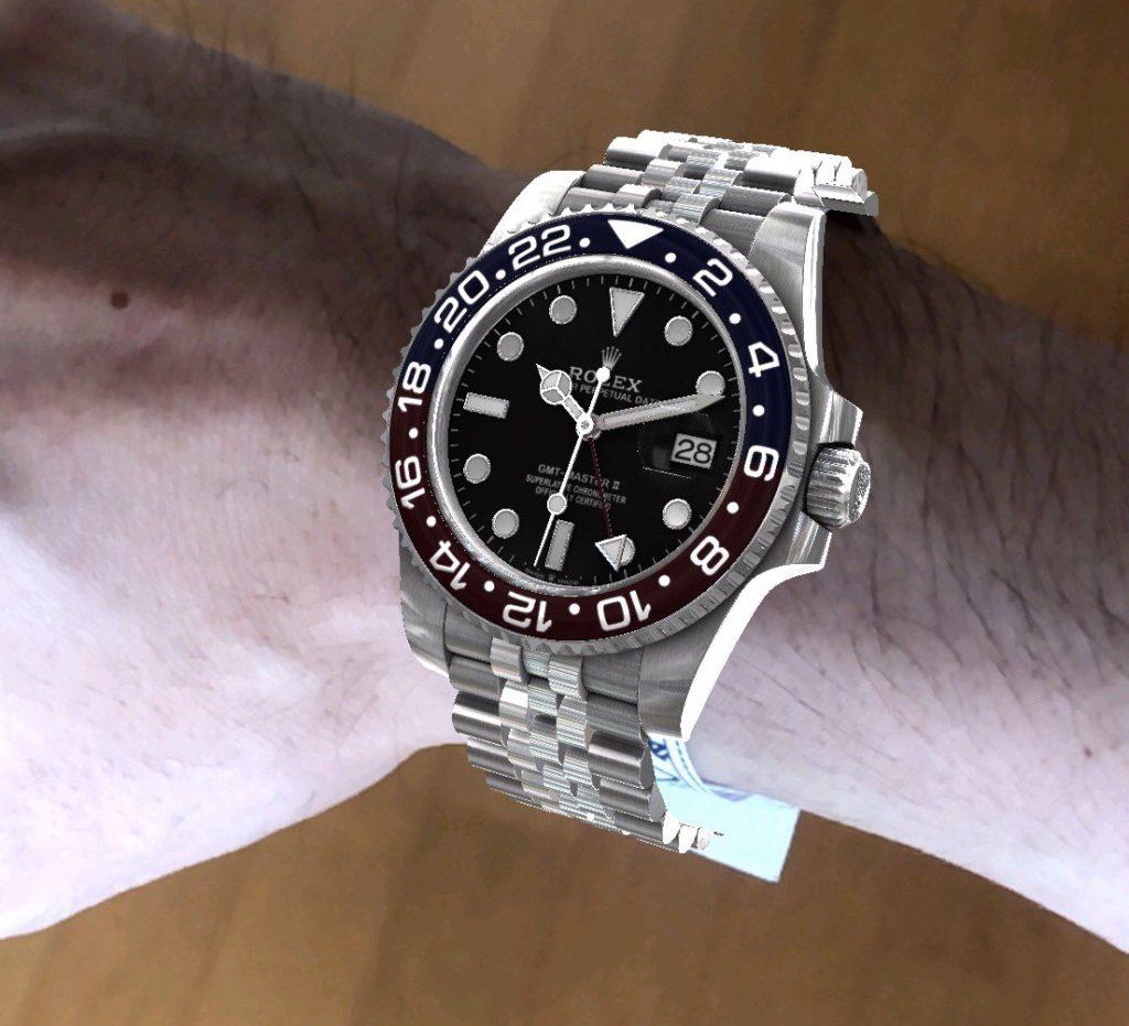 ロレックス時計を試着
